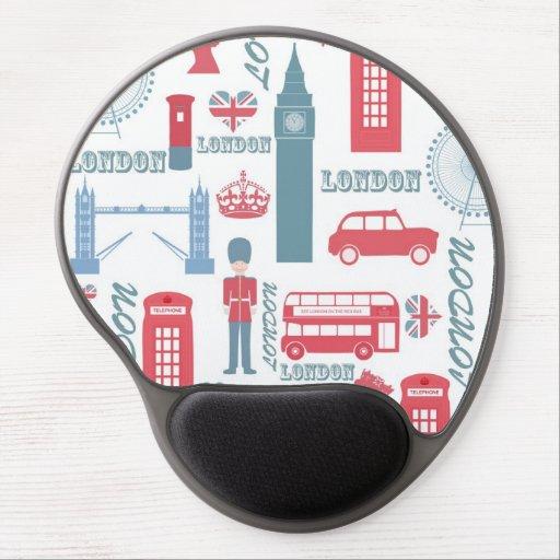 Ejemplos de moda frescos de la señal de Londres de Alfombrilla De Ratón Con Gel