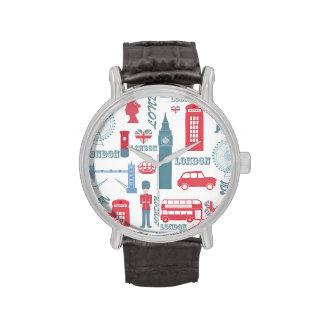 Ejemplos de moda frescos de la señal de Londres de Reloj