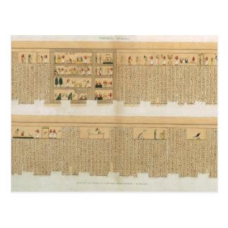 Ejemplos de un manuscrito de Pampus con hierogly Postal