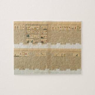 Ejemplos de un manuscrito de Pampus con hierogly Rompecabezas