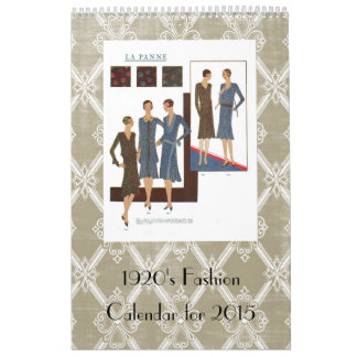 ejemplos del vintage de la moda de los años 20 calendarios
