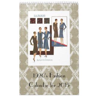 ejemplos del vintage de la moda de los años 20 calendario de pared