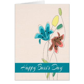 Ejemplos elocuentes de la flor para el día feliz tarjeta de felicitación