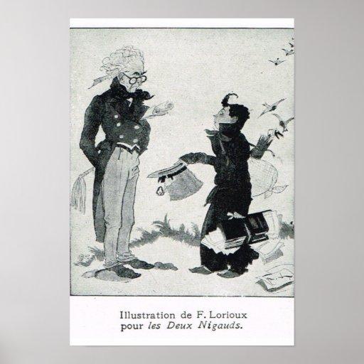 Ejemplos para el libro francés del dibujo animado poster
