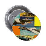Ejemplos retros de los aviones de combate del kits pin