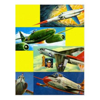 Ejemplos retros de los aviones de combate del postal