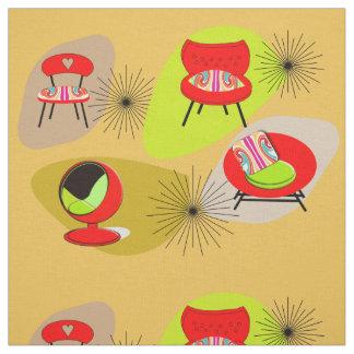 Ejemplos retros modernos de la silla del estilo de telas