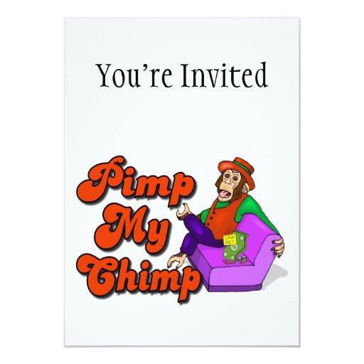 """Ejerce de chulo mi chimpancé invitación 5"""" x 7"""""""