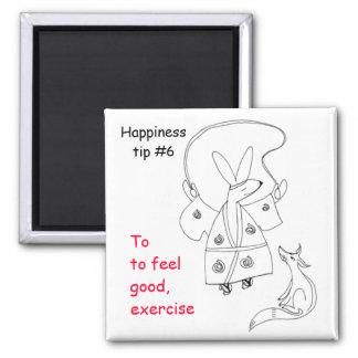 ejercicio a sentirse bien imán cuadrado
