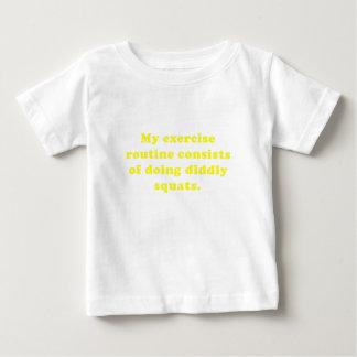 Ejercicio Consists of rutinario que hace las Tee Shirts