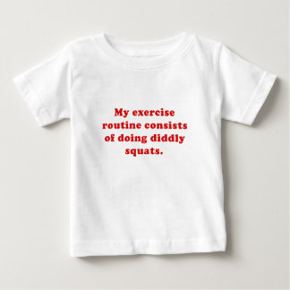 Ejercicio Consists of rutinario que hace las Camiseta