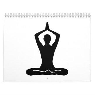Ejercicio de la meditación calendarios de pared