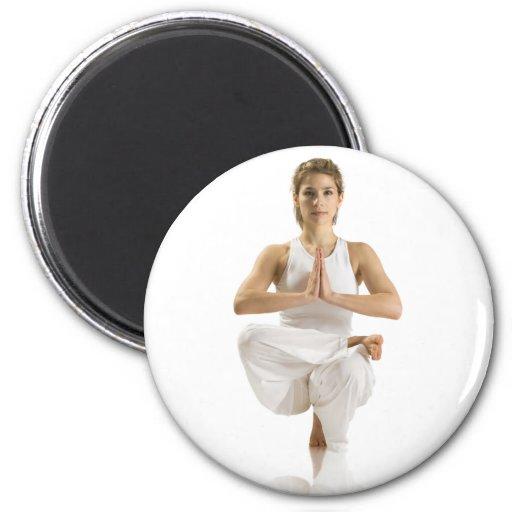 Ejercicio de la yoga imán de frigorifico