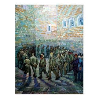 Ejercicio de los presos de Vincent van Gogh Postales