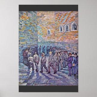 Ejercicio de los presos (después de Doré) Póster