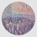 Ejercicio de los presos etiqueta redonda