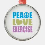 Ejercicio del amor de la paz ornamento para arbol de navidad