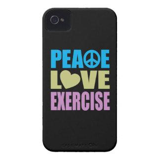 Ejercicio del amor de la paz Case-Mate iPhone 4 protectores