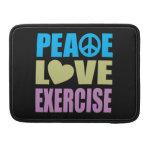 Ejercicio del amor de la paz funda para macbook pro