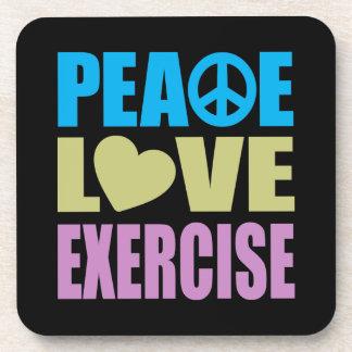 Ejercicio del amor de la paz posavasos de bebidas