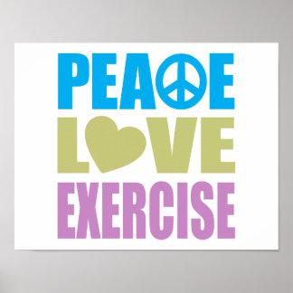 Ejercicio del amor de la paz póster