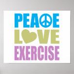 Ejercicio del amor de la paz posters