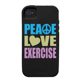 Ejercicio del amor de la paz vibe iPhone 4 carcasa