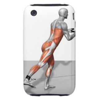 Ejercicio del patinador del cable tough iPhone 3 protectores