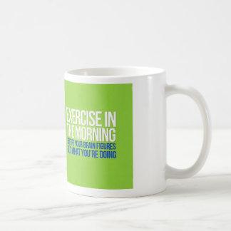 Ejercicio en la taza de la mañana
