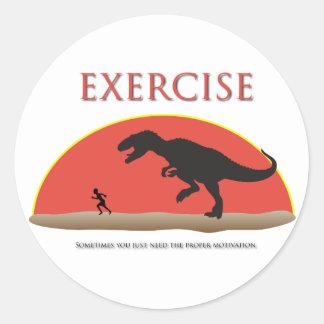 Ejercicio - motivación apropiada pegatina redonda