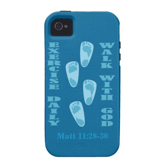 Ejercicio - paseo con dios (11:28 de Matt - 30 Carcasa Case-Mate Para iPhone 4