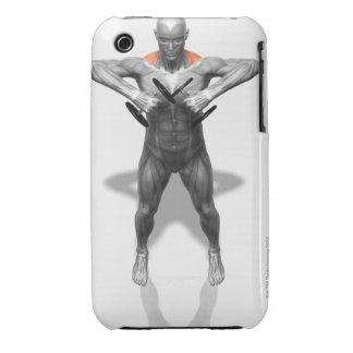 Ejercicio vertical 2 de la fila iPhone 3 Case-Mate protectores
