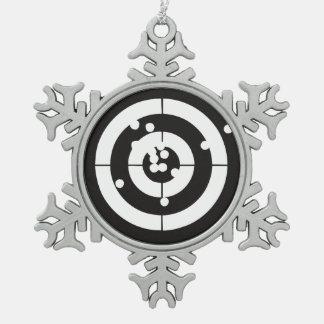 Ejercicios de tiro adorno de peltre en forma de copo de nieve