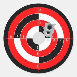 Ejercicios de tiro pegatina redonda