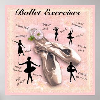 Ejercicios del ballet póster
