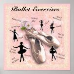 Ejercicios del ballet posters