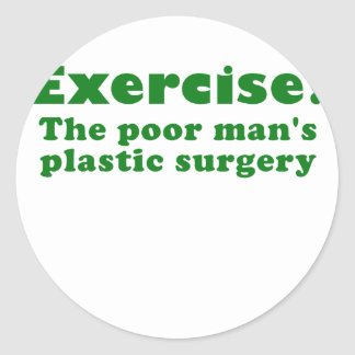 Ejercite un pobre sirve cirugía plástica etiquetas redondas
