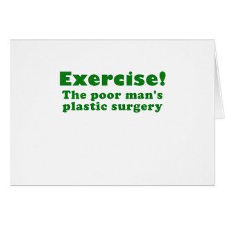 Ejercite un pobre sirve cirugía plástica tarjeton