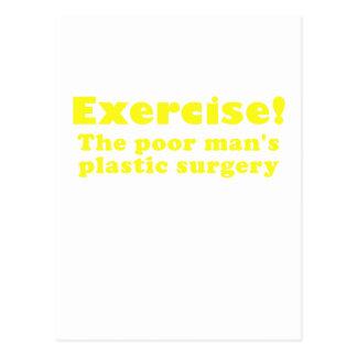 Ejercite un pobre sirve cirugía plástica postales