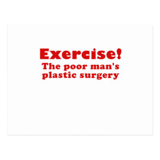 Ejercite un pobre sirve cirugía plástica tarjetas postales