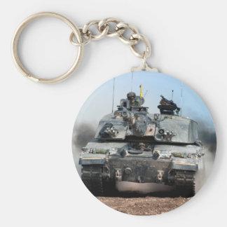 Ejército británico de tanque de batalla principal llavero redondo tipo pin