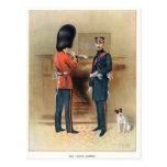 Ejército británico - los guardias escoceses tarjeta postal