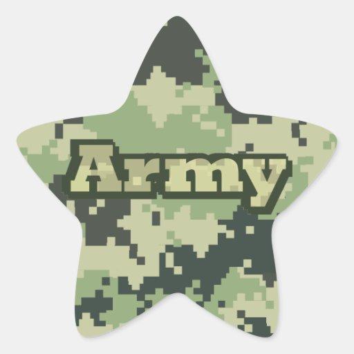 Ejército Calcomanía Forma De Estrellae