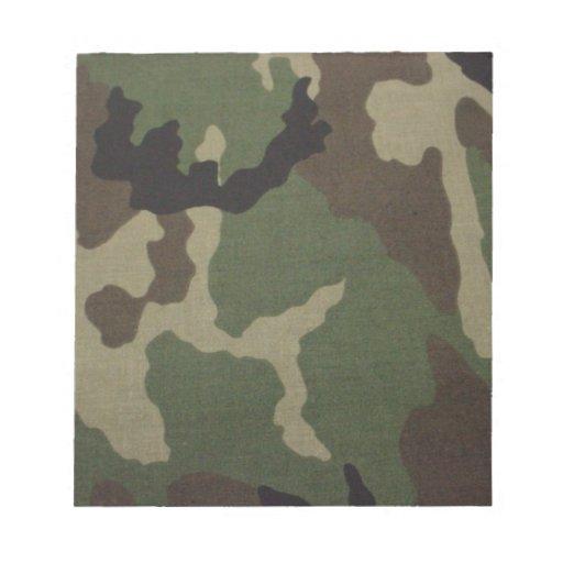 Ejército Camo Libreta Para Notas