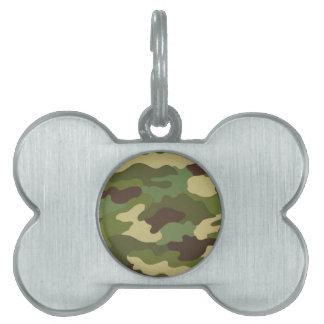 Ejército Camo Placas De Mascota