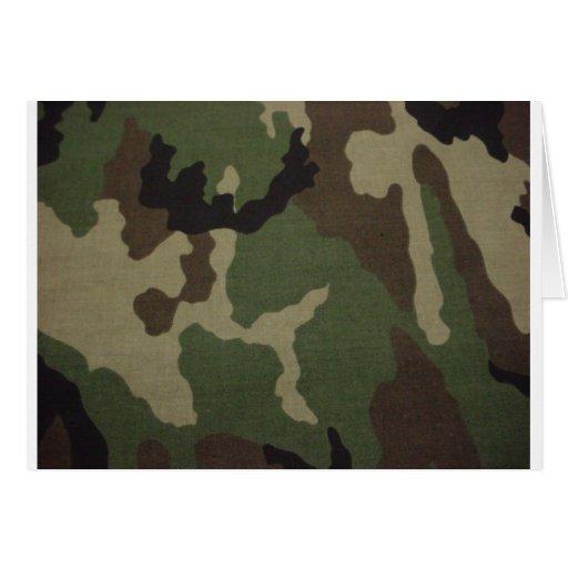 Ejército Camo Tarjeta