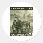 Ejército casero polaco de WWII Pegatina Redonda