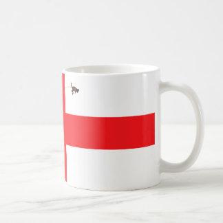 Ejército chalado del grillo bandera-Inglés inglés Taza De Café