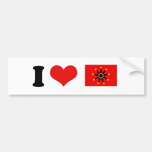 Ejército chino etiqueta de parachoque