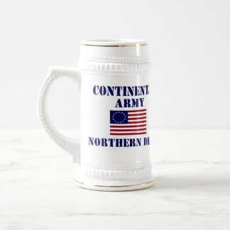 Ejército continental americano que bebe a Stein Jarra De Cerveza